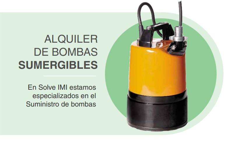 alquiler de bombas sumergibles